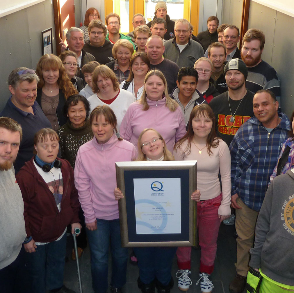 Group holding a certificate